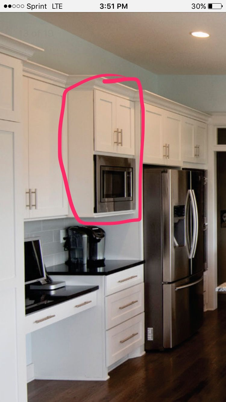 Microwave And Wet Grinder Place In Kitchen Kitchen Microwave Cabinet Kitchen Design Kitchen Showroom