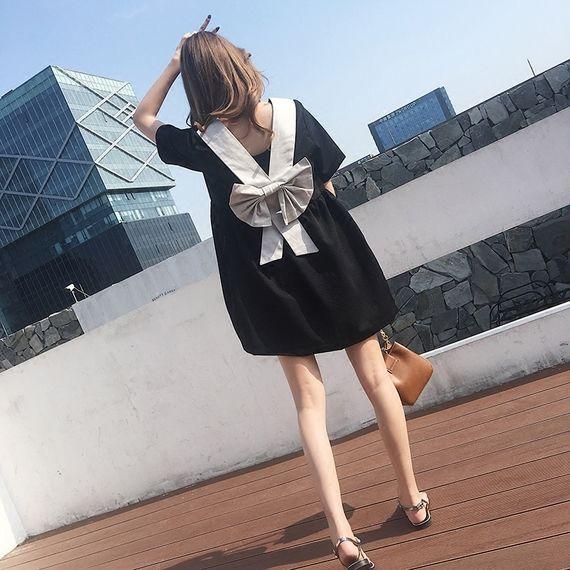 2017 여름 새로운 도착 단어 인형 나비 드레스 스커트 검은 색 ...
