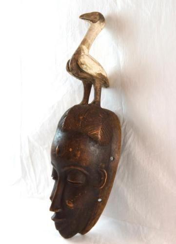 African-Congolese-tribal-mask-w-bird-Lot-148A