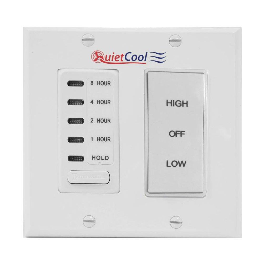 Quietcool Timer Control Kit For 2 Speed Cool Whole House Fan Models It Kit 2 With Images Whole House Fan House Fan Cool Stuff