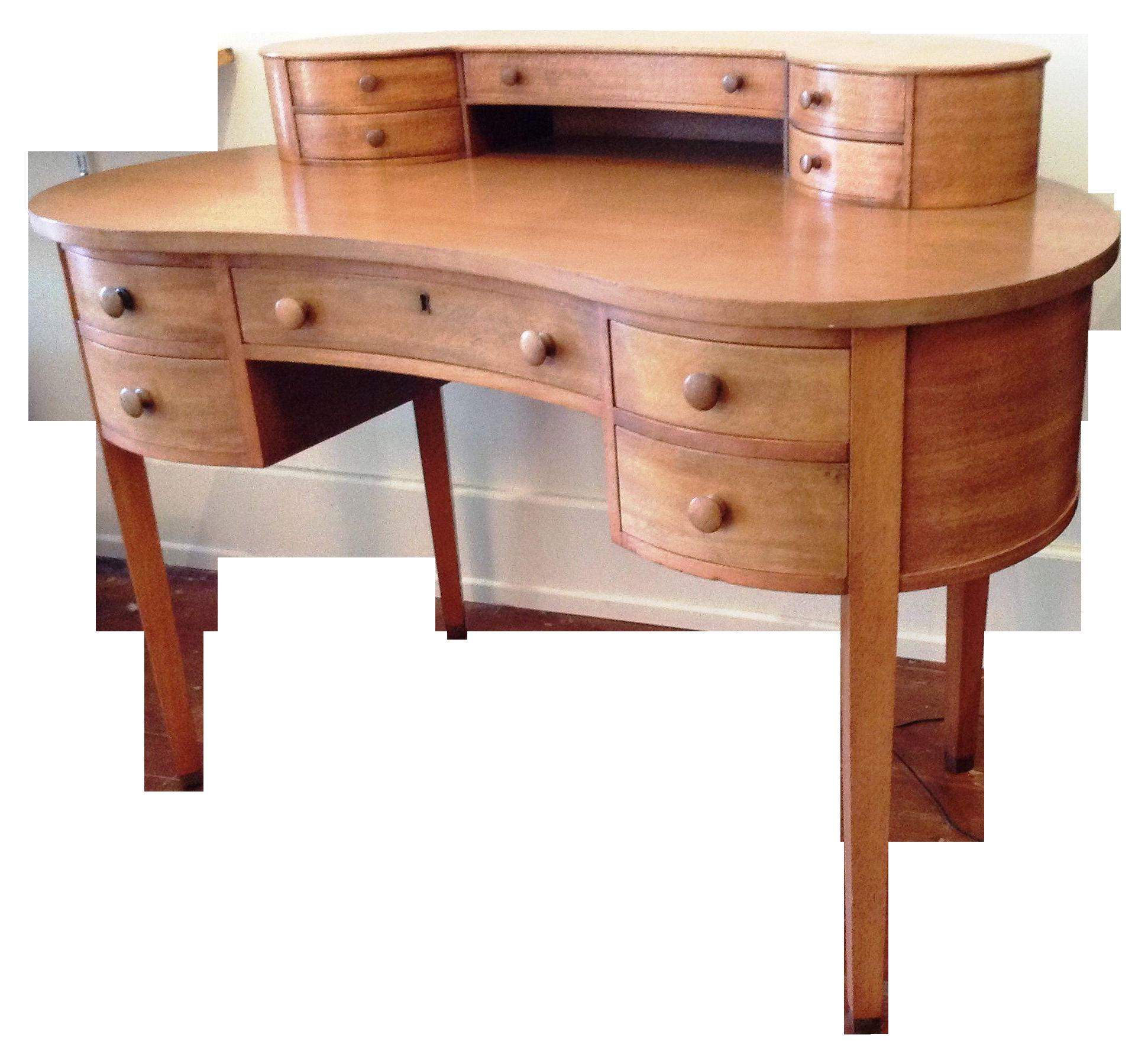 Mahogany Kidney Shaped Desk 2200 On Chairish Com Kidney Shaped
