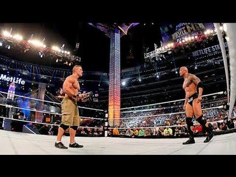 The Rock VS  John Cena Full Match Highlights HD