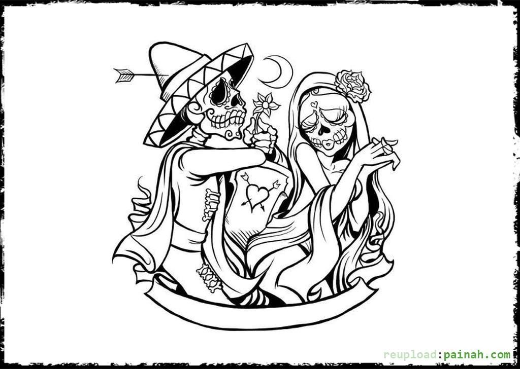 Day Of The Dead Altar Coloring Pages Google Search Skull