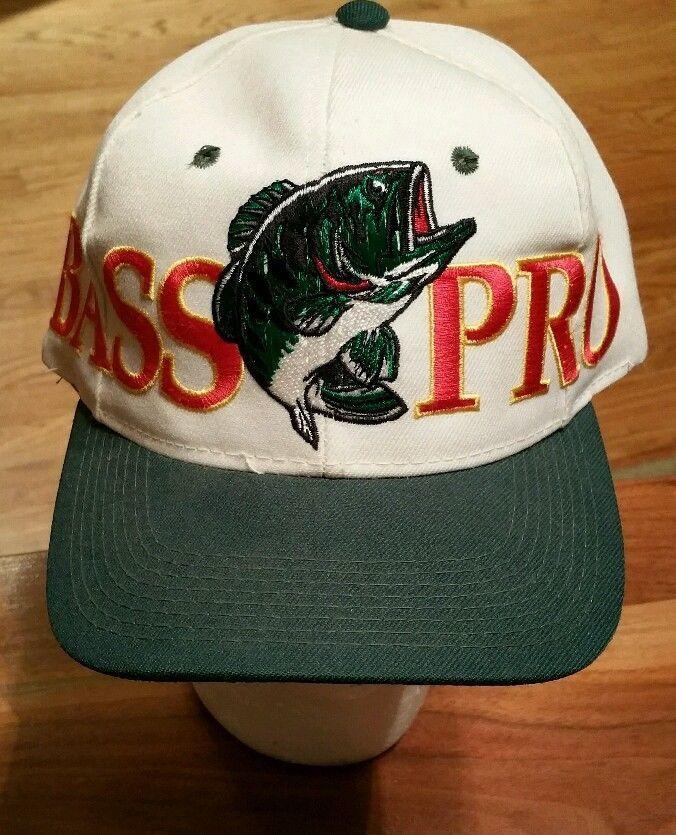 4029eeef64e3b Bass Pro Shops embroidered Snapback Cap Trucker Hat hunting fishing wool  blend  BassProShops  Trucker
