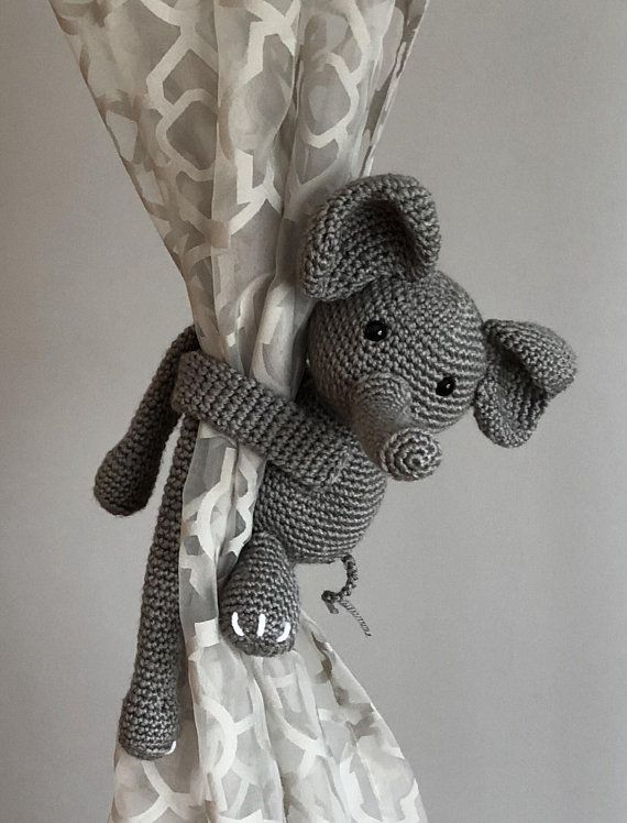 Elephant Curtain Tie Backs Nursery Tiebacks