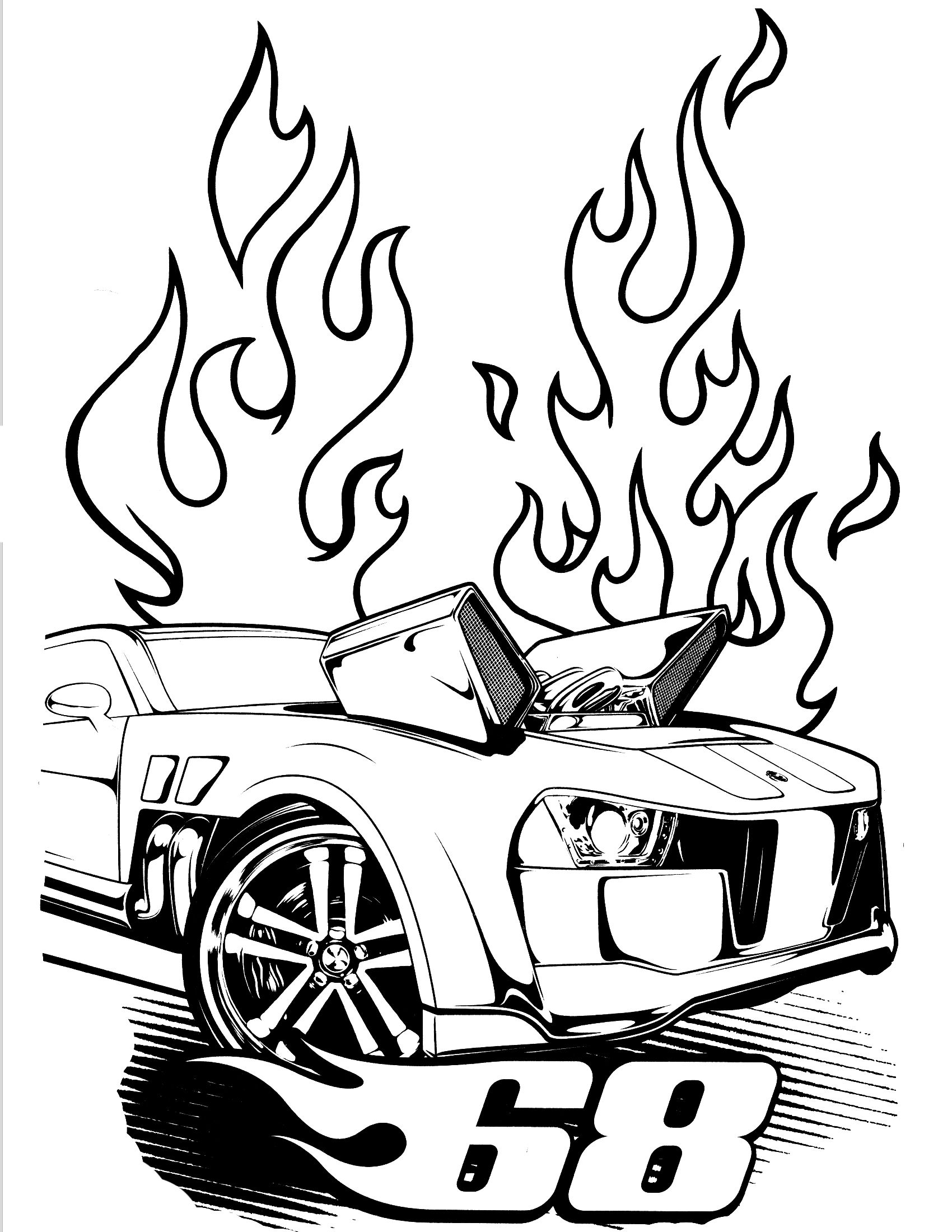 Hot Wheels Pose A Very Modern Form  Hot Wheels Coloring Pages