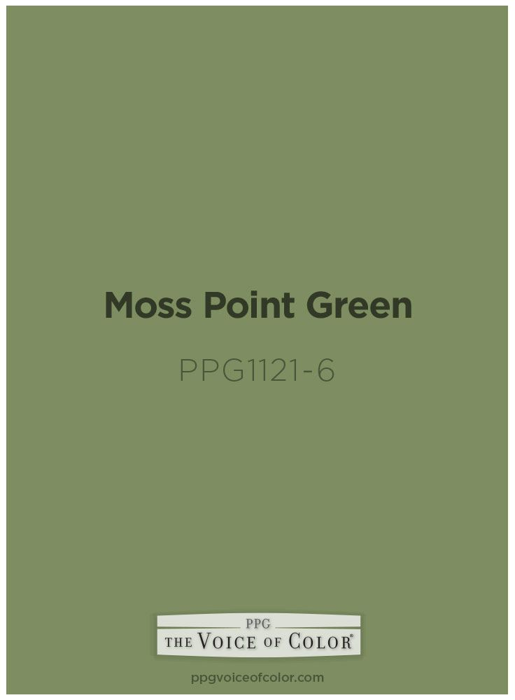 Moss Point Green Ppg1121 6 Green Paint Colors Paint