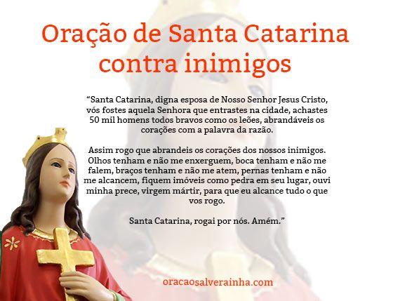 Oracao De Santa Catarina Completa E Original Oracao Oracao