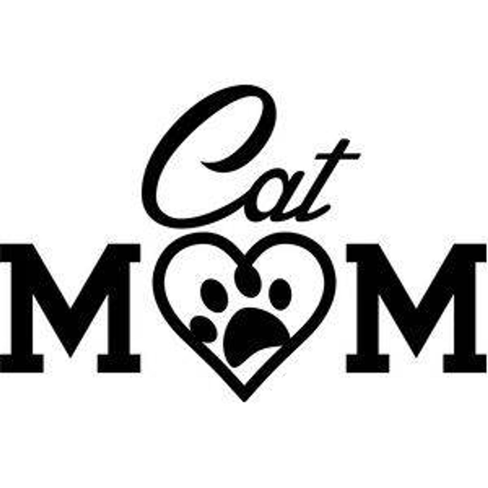 Cat mom paw print vinyl car decal bumper window sticker