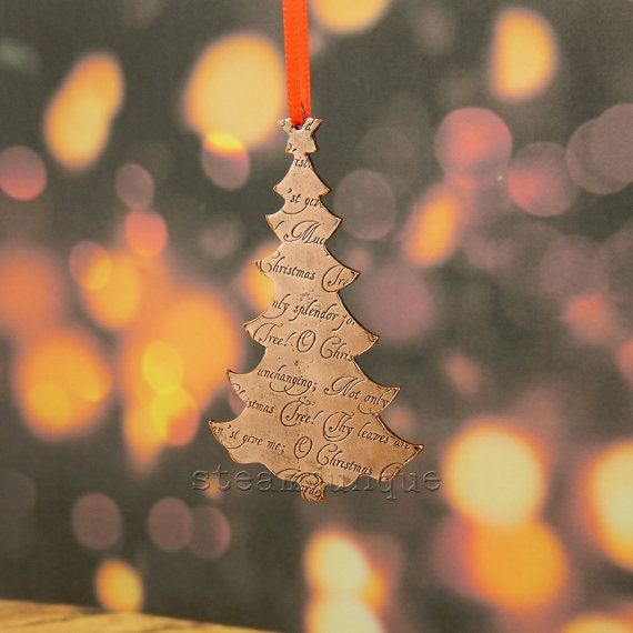 copper christmas decoration copper christmas tree by steamjunque