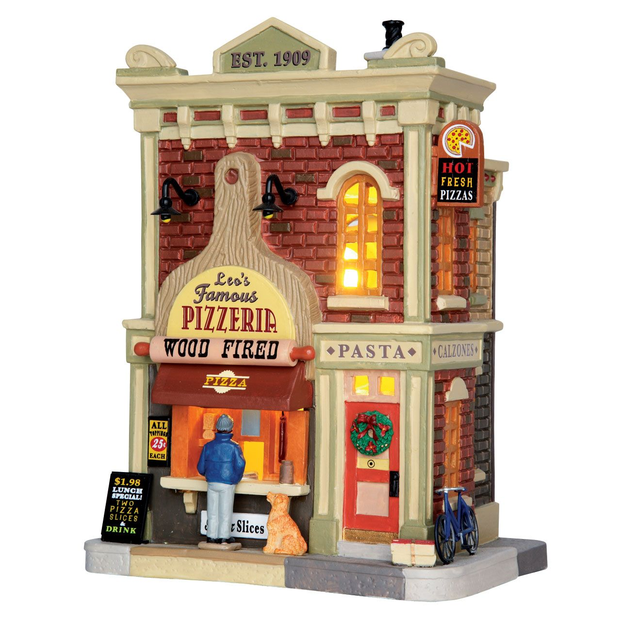 lemax leos famous pizzeria sku 65151 released in 2016 as a lighted building exclusively for michaels