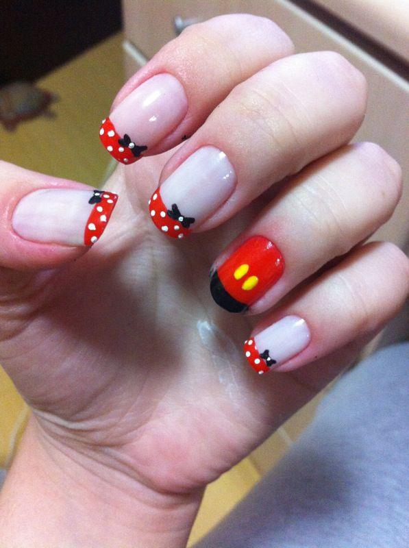 Minnie e Mickey | unhas | Pinterest | Arte de uñas, Mickey mouse y ...