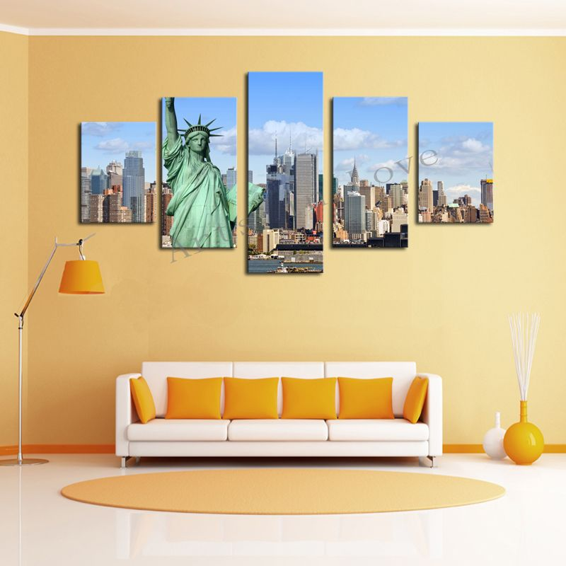 New York City https://walldecordeals.com/without-frame-5-panels ...