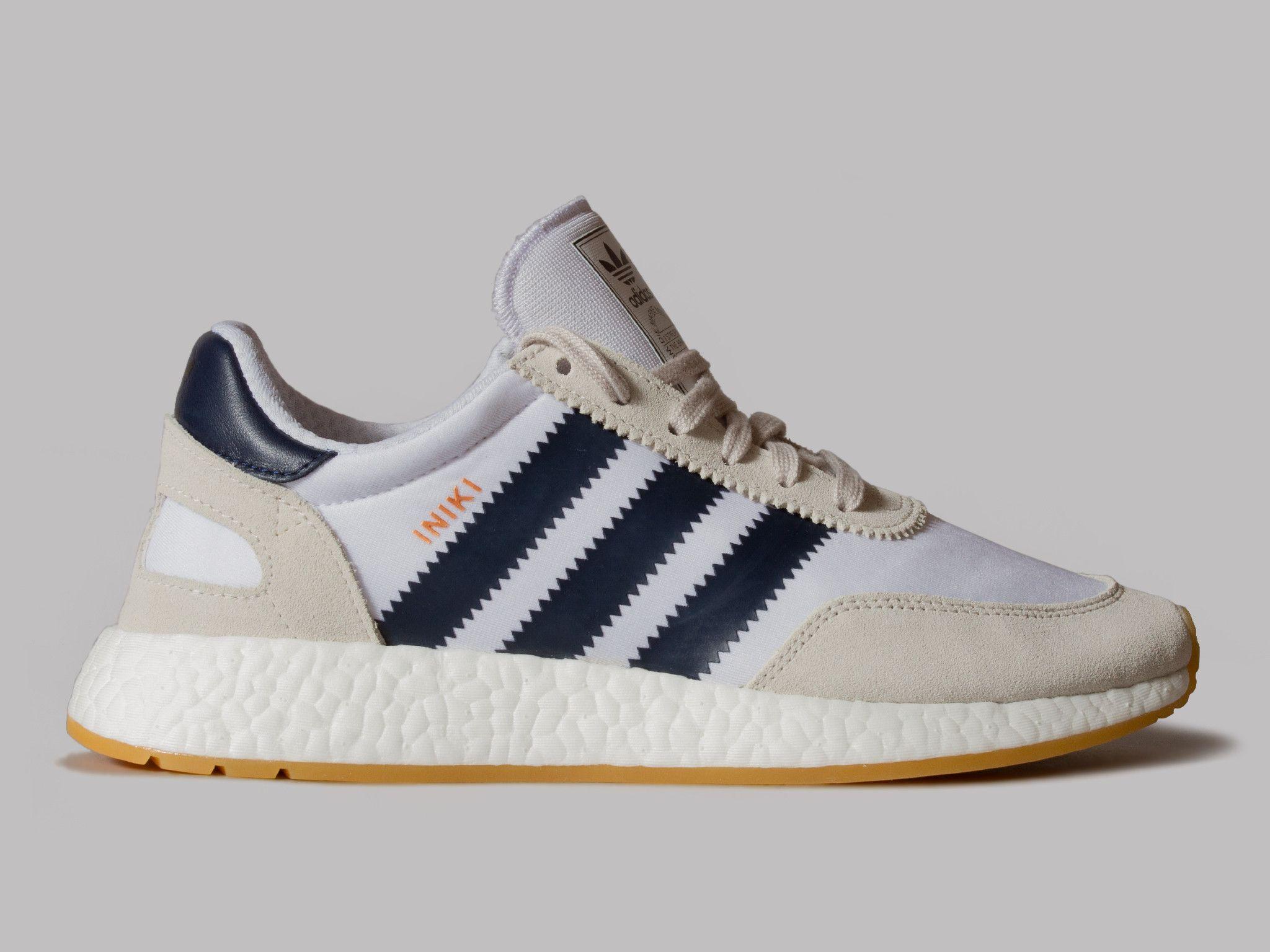 adidas Iniki Runner (White / Navy / Gum)