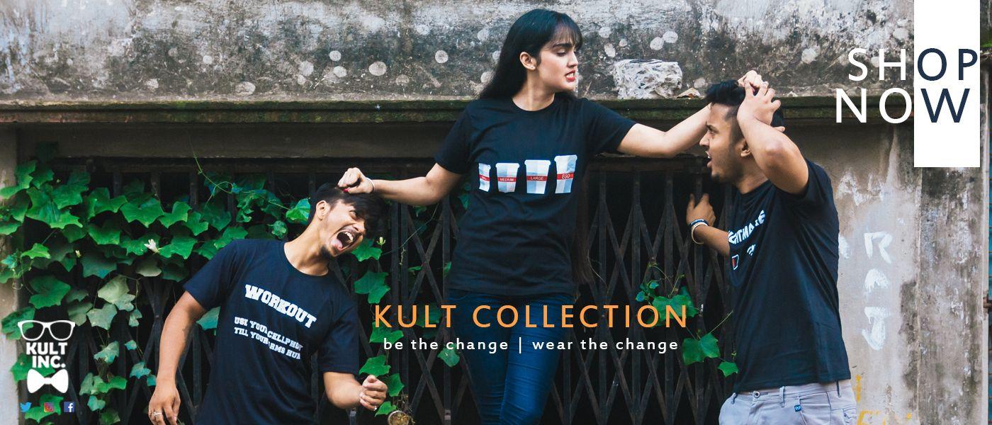 Buy Trendy T-shirt Online For Men and Women at Kultinc