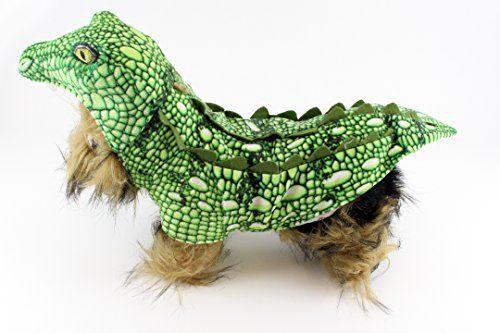 Realistic Green Crocodile Dog Halloween Costume Small Dog