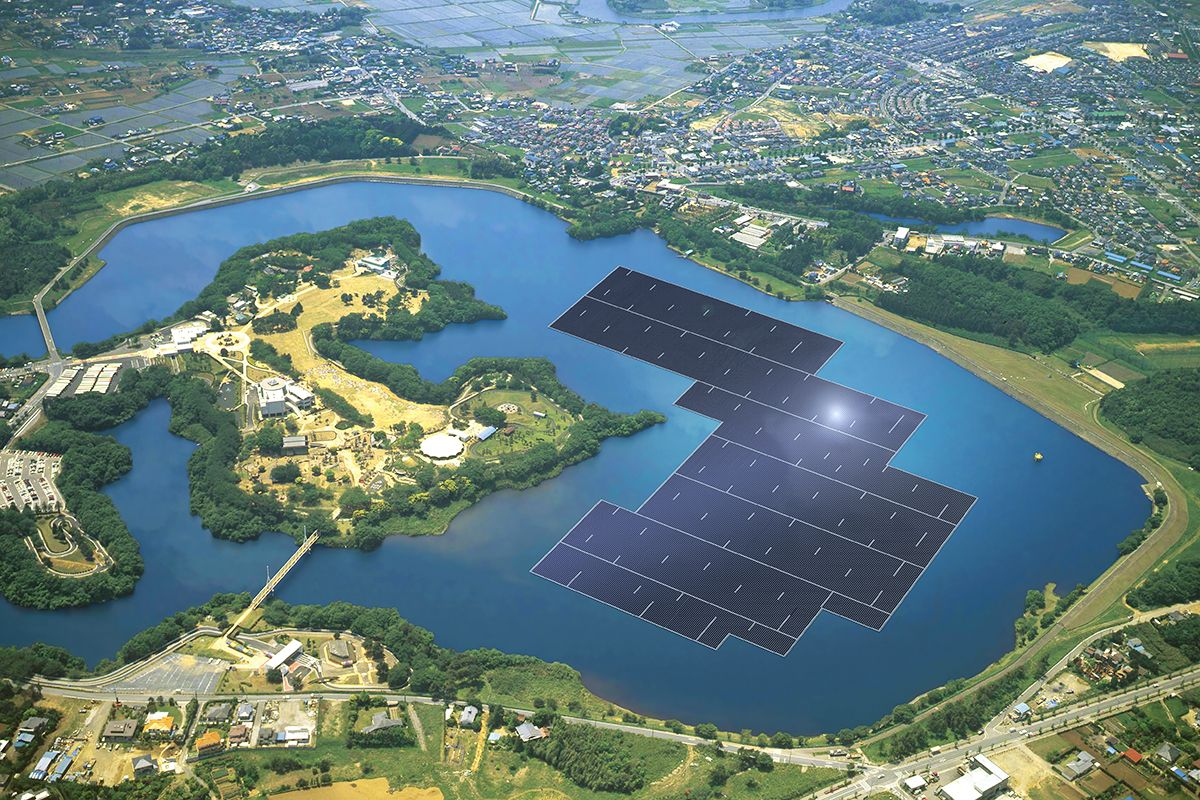 Floating Solar A Win Win For Drought Stricken Lakes In U S Solar Solar Power Solar Projects