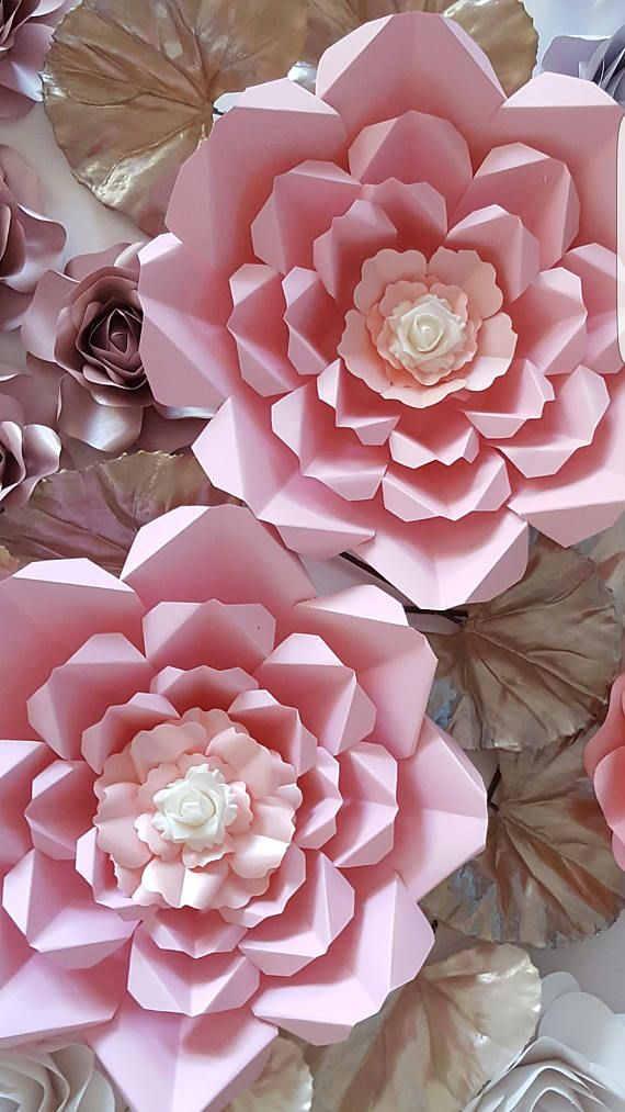 Paper Flower Template and Base in PDF file #4 | Template, Filing and ...