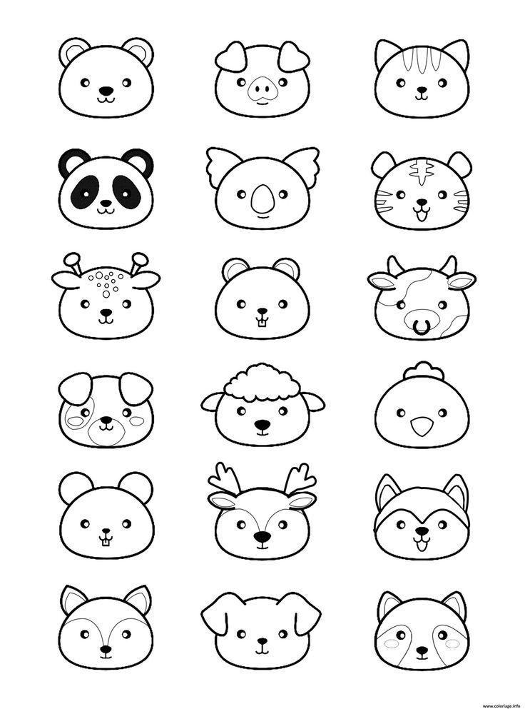 Colorear Animales Kawaii Para Imprimir Animales Colorear