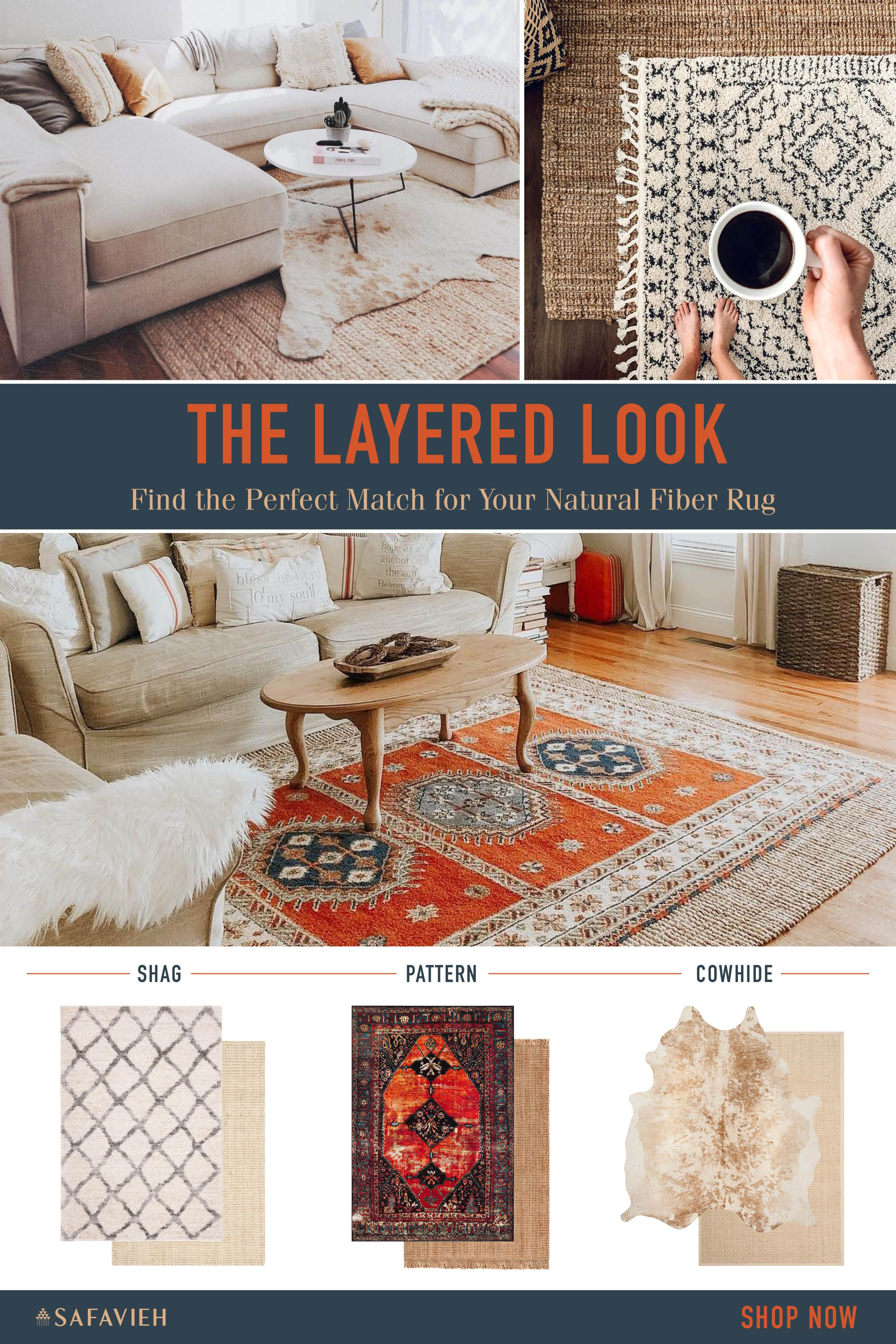 Fall Weather Calls For Layers And We Re Not Just Talking About Sweaters Layer Up Your Area Rugs Layered Rugs Living Room Layered Rugs Living Room Area Rugs