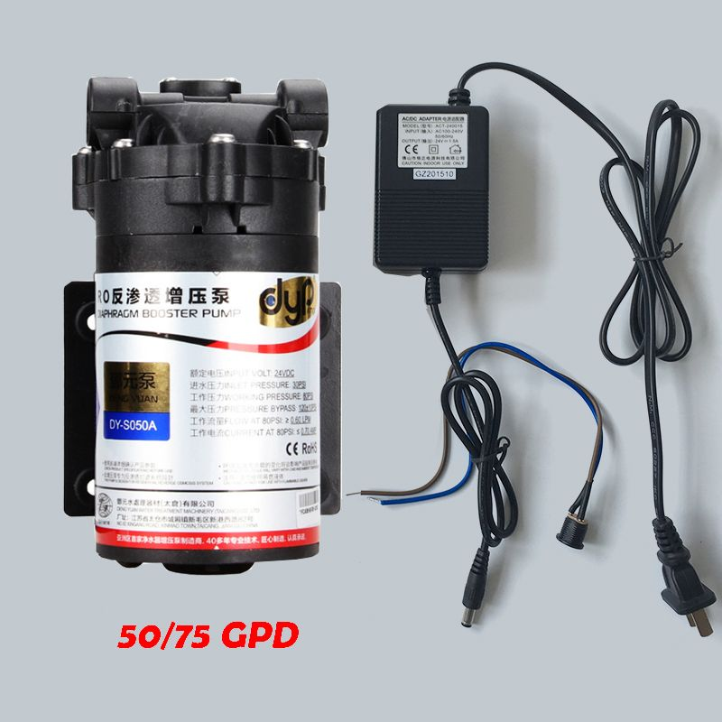 Water Filter DC24v Water Booster Pump High Pressure With DC24v 1.5A  Transformer For 50/