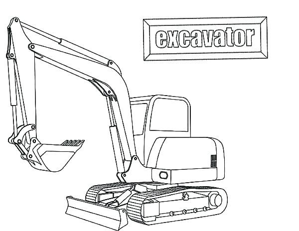 coloring pages download e is for excavator coloring pages