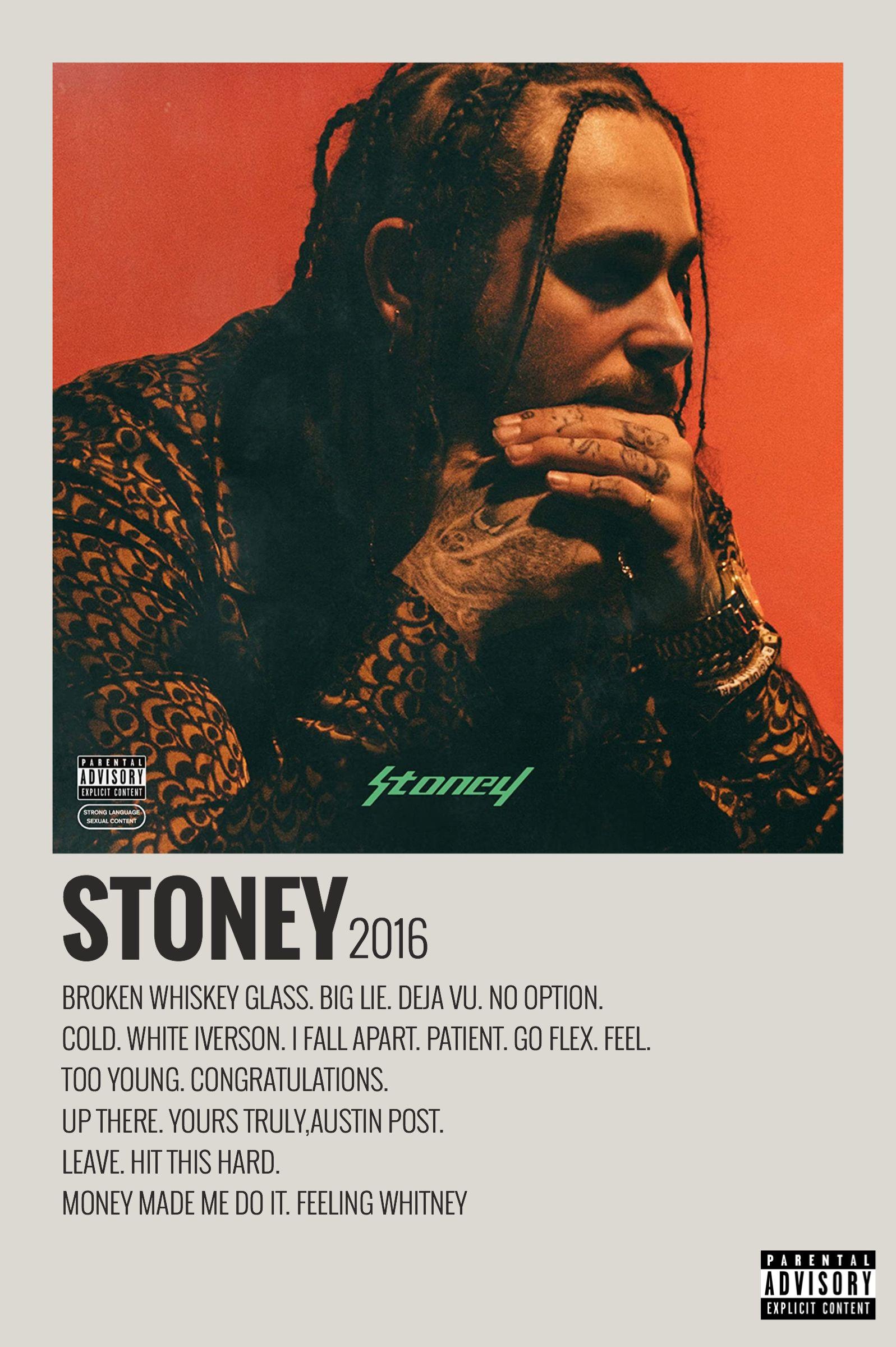 minimalist album poster stoney by
