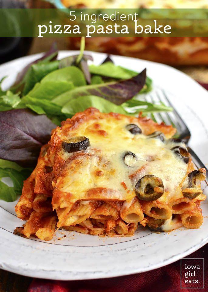 5 Ingredient Pizza Pasta Bake ist ein käsiger und dekadenter Weg, um Ihre Pizza ... -  Garden OrgCredi -