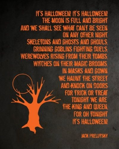 Halloween poem halloweenie