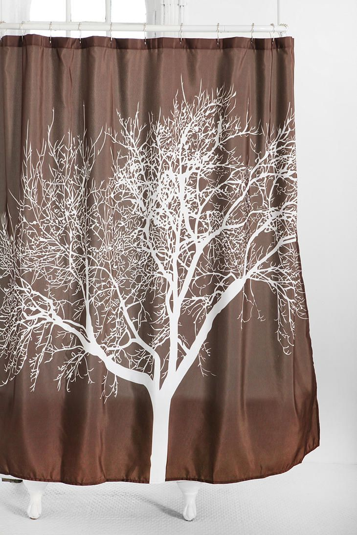 Perfect Shower Curtain For An Earthy Brown And White Maybe Even Some Green Themed Bathroom 4400 From Urban Outfitters