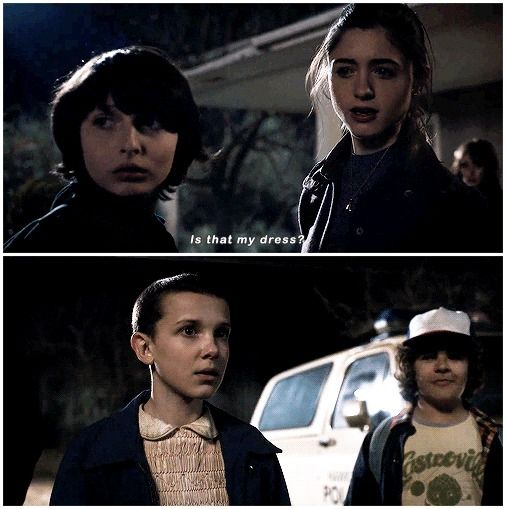 It's funny how everyone else noticed Eleven's shaved head first except Nancy