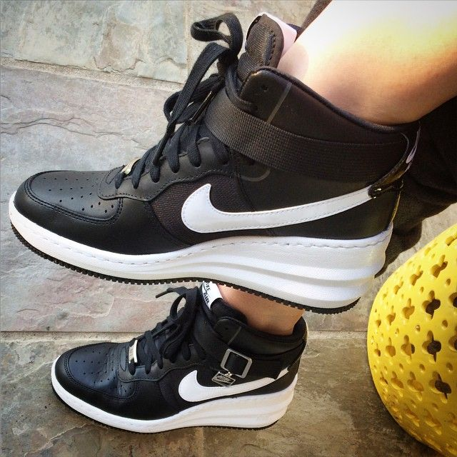 Nike Lunar Air Force 1 wedges! I love my sneaks as much as my stilettos