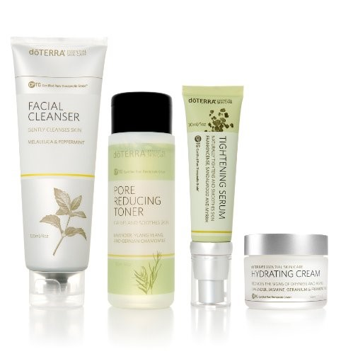 Doterra Skin Care System With Hydrating Cream Essential Skin Care Collection Gold Cap Skin Care System Skin Care Toner Products Anti Aging Moisturizer