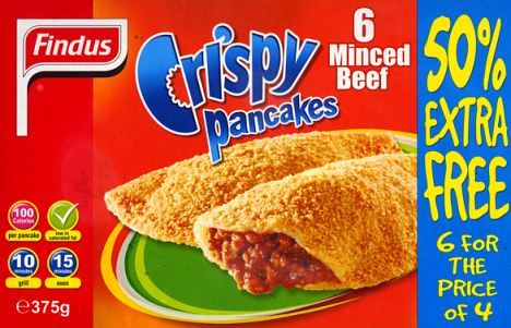 findus minced beef crispy pancakes i cried when mum made these for tea yuukkk