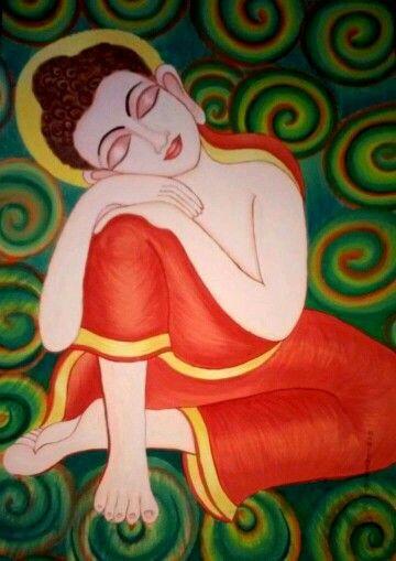 Buddha painting by poonam tiwari