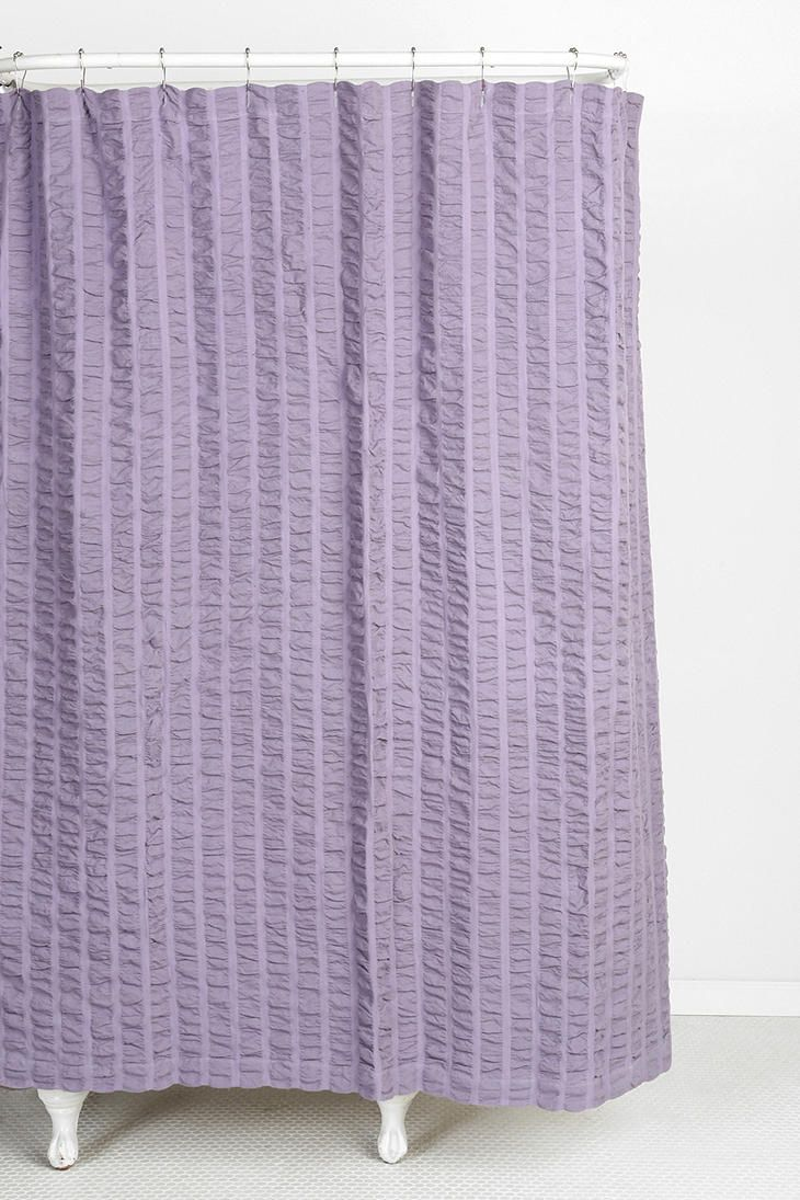 Seersucker Shower Curtain Lavender Shower Curtain Curtains