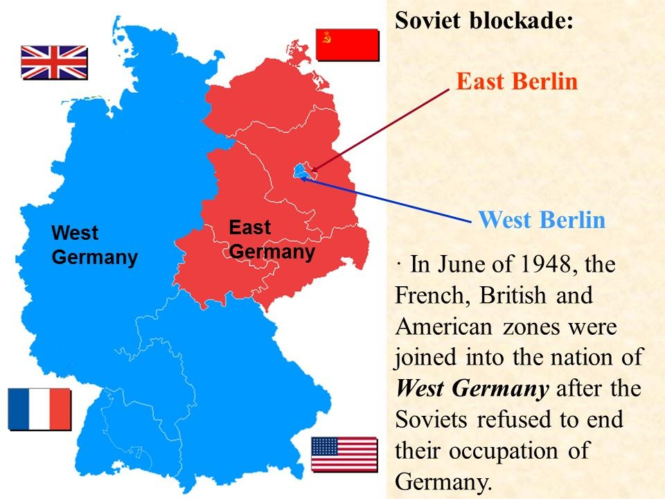 English French and US zones of Berlin—West Berlin And the Soviet
