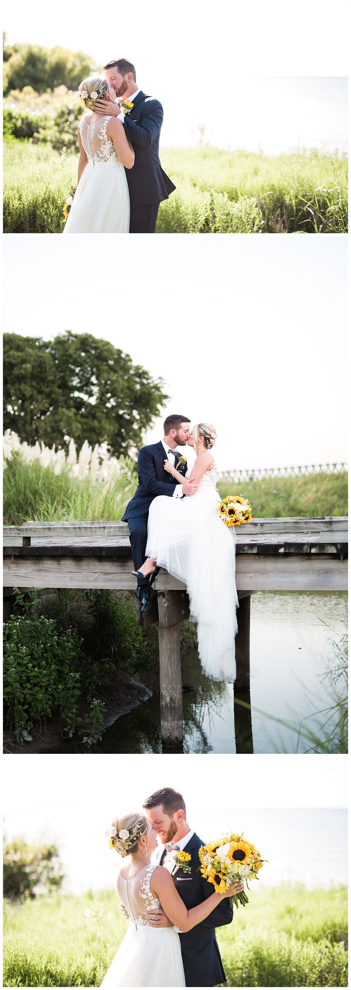 Wedding Photographer based in Dallas, TX - Adria Lea Photography - Sunflowers - First Look