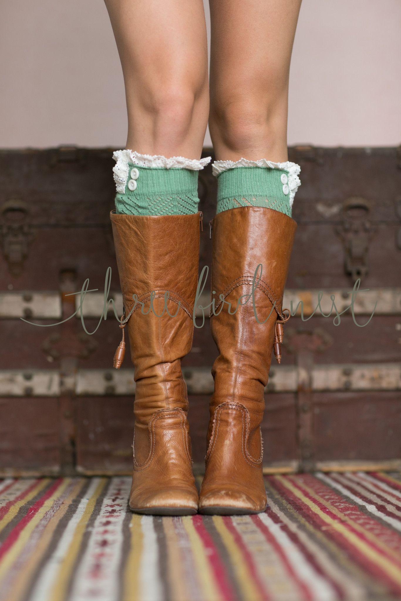 Lacey Trim Boot Cuffs