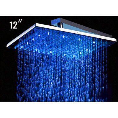 Alfi Brand 12 Square Led Rain Shower Head Reviews Wayfair