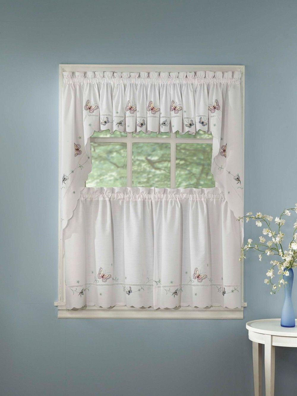 Curtain u bath outlet monarch embroidered tier tiers for family