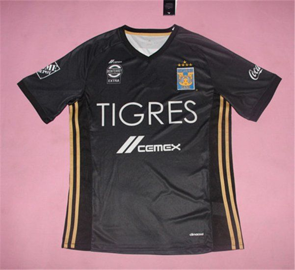 tigres uanl away 5star black jersey  61c1fe165