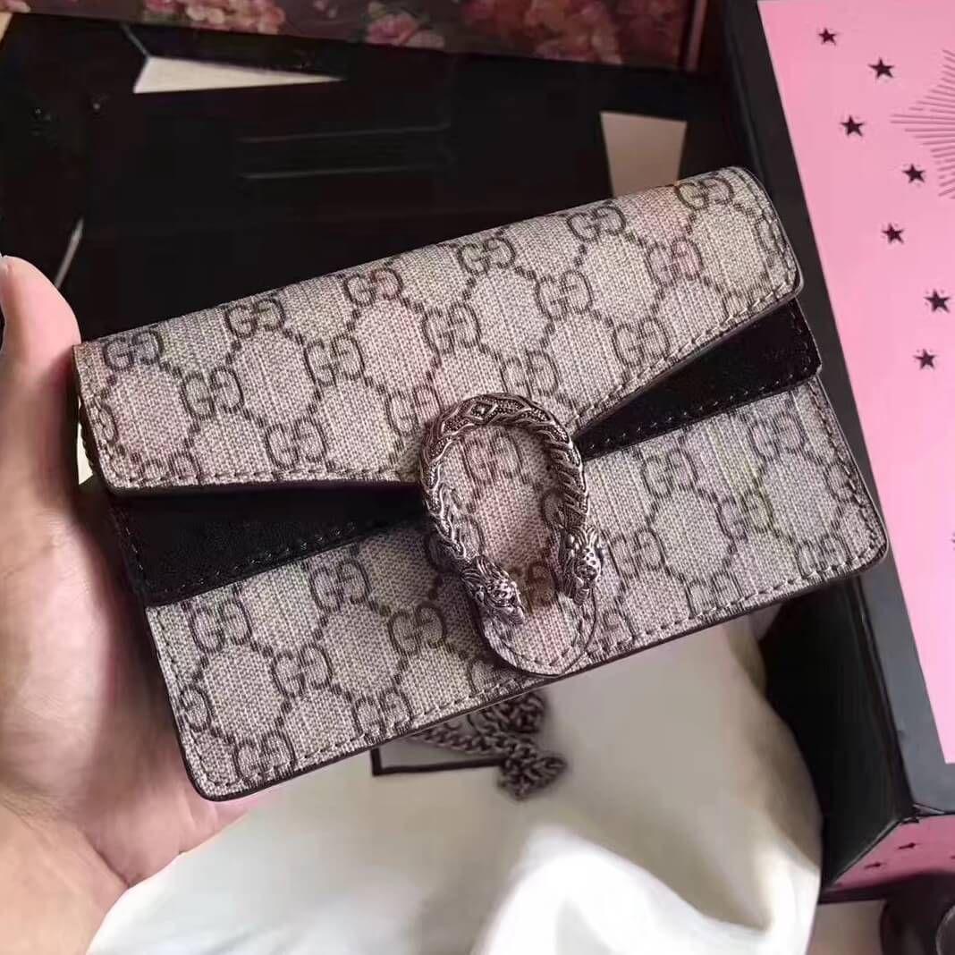 58b0252e09cd Gucci Dionysus GG Supreme Super Mini Bag | Authentic Gucci Handbags ...
