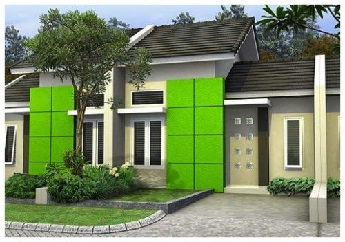 Gambar Desain Rumah Minimalis Yg Bagus  warna cat depan rumah yang bagus dekorasi minimalis
