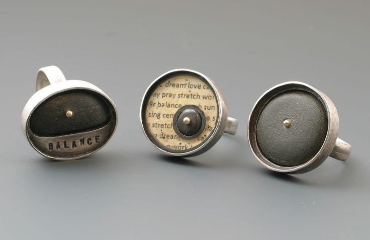 kristi zevenbergen jewelry | Single Rivet Rings by Kristi Zevenbergen -- ... | Jewelry: Found Art