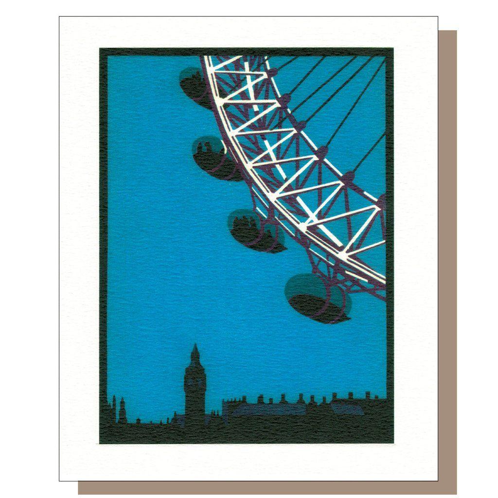 Eye ii gift crouch end card art linocut art