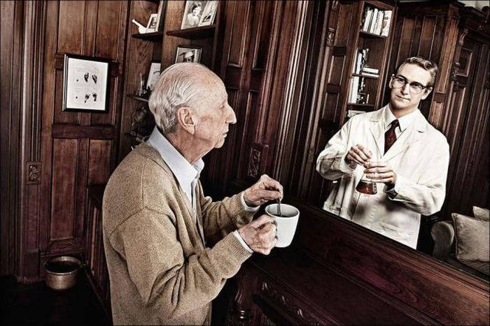 Mirror of Memories by Tom Hussey a picture signifying the effects of dementia
