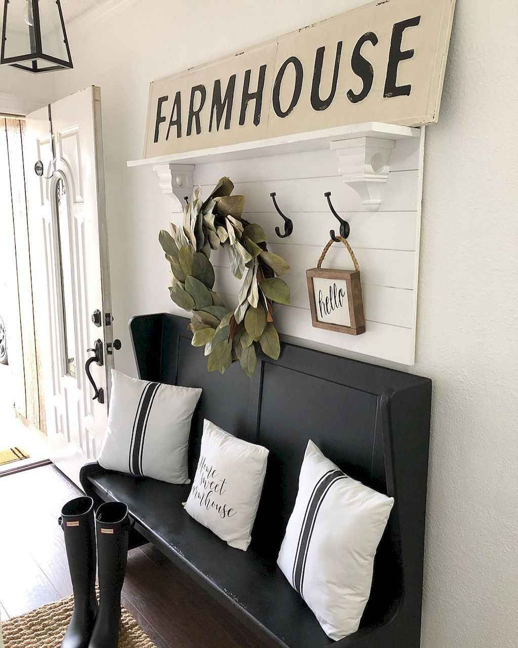 Entryway Bench By Stairs