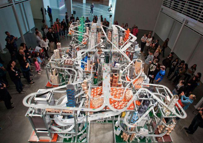 Metropolis II by Chris Burden is really really impressive! Two years of work and - oh guys - look at its size!!!