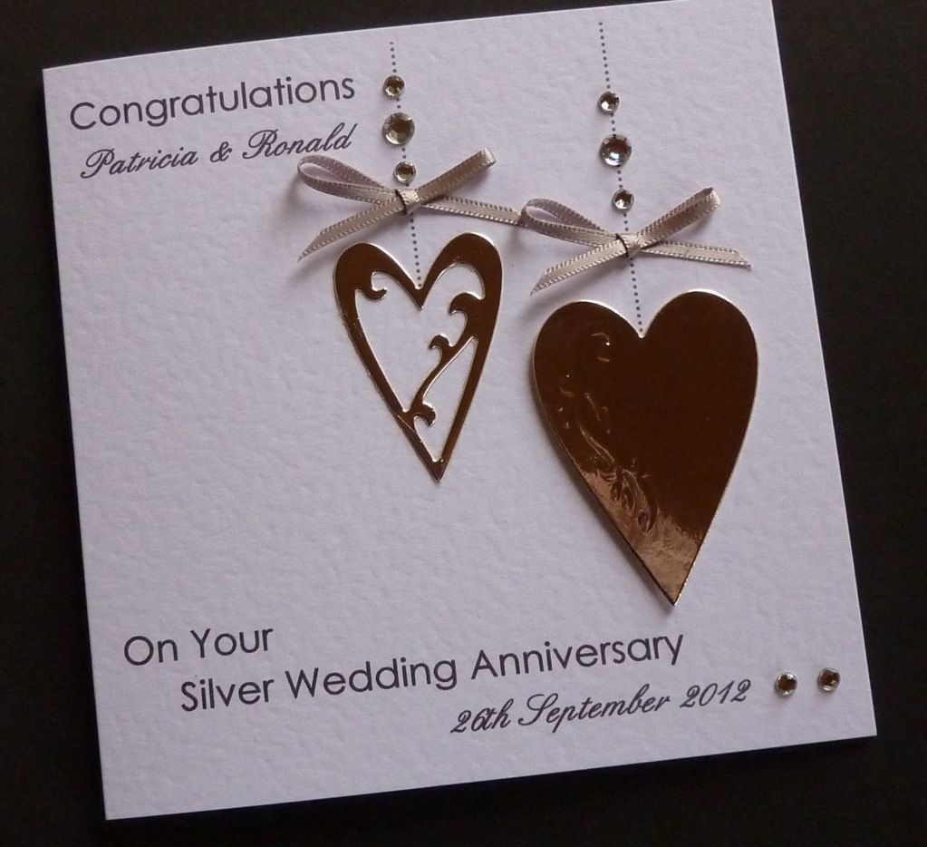 25th Wedding Anniversary Cards Google Search Arts Crafts